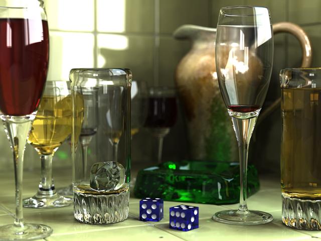 contoh gambar 3D menggunakan 3D Software